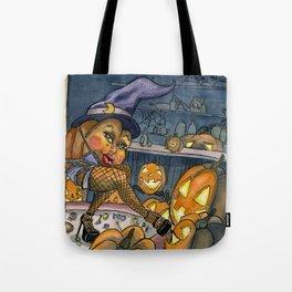 Pumpkin Stripper Tote Bag