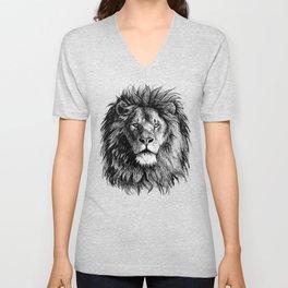 African Lion Unisex V-Neck