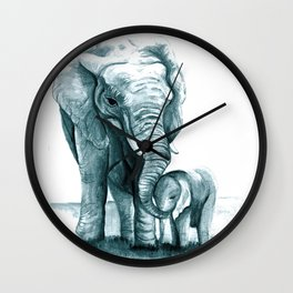 My Little Peanut (Elephants) Wall Clock
