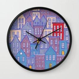 Pretty City II Wall Clock