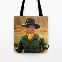 apocalypse now Tote Bags featuring Robert Duvall @ Apocalypse Now by Gabriel T Toro