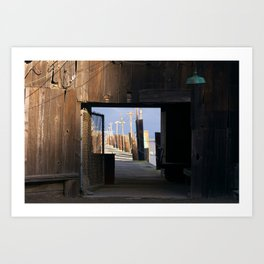 San Francisco Bay Dock Art Print