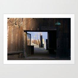 San Francisco Bay Dock Art Print