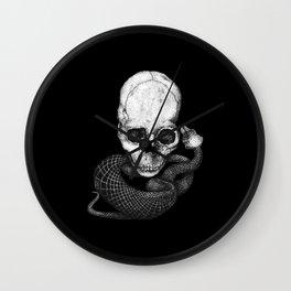 Skull and snake Wall Clock