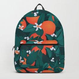 Summery Orange Blossoms Backpack