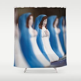 Hand painted figurines Shower Curtain