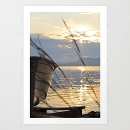 Sunset At Lakeside Art Print