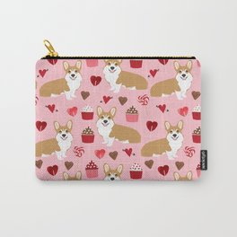 Corgi cupcakes valentines day cute love hearts dog breed corgi crew welsh corgis gifts Carry-All Pouch