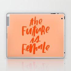 The Future is Female Pink and Orange Laptop & iPad Skin