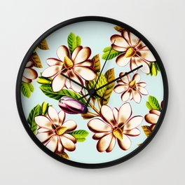 Exotic Floral Wall Clock