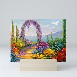 Blooming arch Mini Art Print