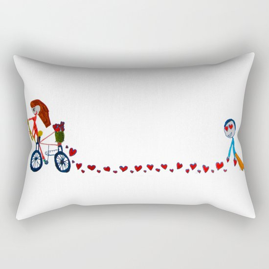 I'm in love | Be my Valentine | Kids Painting Rectangular Pillow