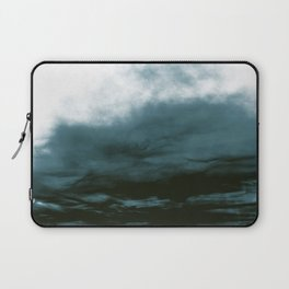 WHITE & BLUE & BLACK TOUCHING #1 #abstract #decor #art #society6 Laptop Sleeve