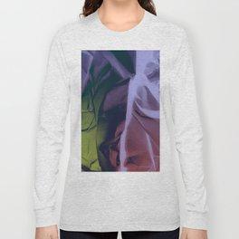 Deep Purple and Green Abstract Long Sleeve T-shirt