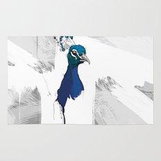 Peacock Head Rug