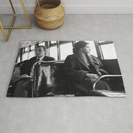 African American Portrait - If Rosa Parks Rode a Bus Today? Rug