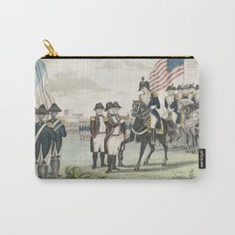 Vintage Surrender of Lord Cornwallis Illustration (1846) Carry-All Pouch