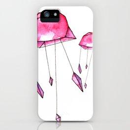 Geometric jellyfish iPhone Case