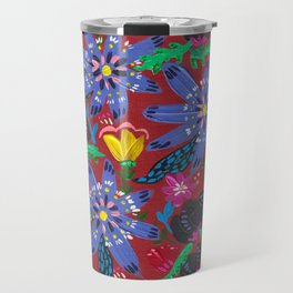Blue Blooms Travel Mug