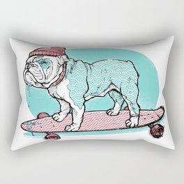 Hipster Bulldog Rectangular Pillow