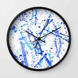 Eclats bleus Wall Clock