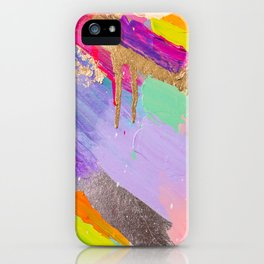 Contemporary abstract painting iPhone Case