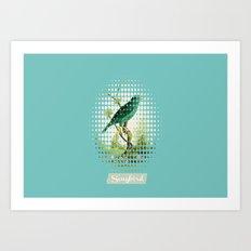 Songbird {Jade} Art Print