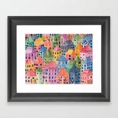 Summer City Framed Art Print