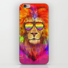 Rainbow Lion Pride iPhone Skin