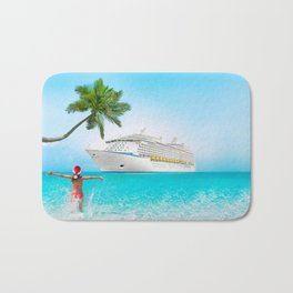 Christmas holidays on Caribbean cruise Bath Mat