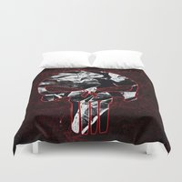 punisher Duvet Covers featuring Punisher 1 by Beastie Toyz