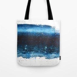 Lake Michigan: a pretty, minimal abstract piece in icy blues by Alyssa Hamilton Art Tote Bag