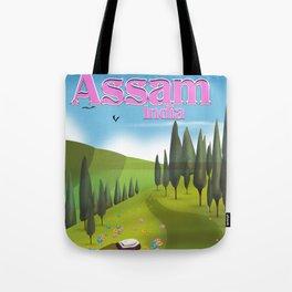 Assam, India Tea travel poster Tote Bag