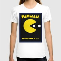 pac man T-shirts featuring pac-man by CJones5105