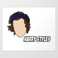 harry styles Art Prints featuring HARRY STYLES by SaladInTheWind