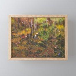 Fall Water Reflection Amicalola Falls Framed Mini Art Print