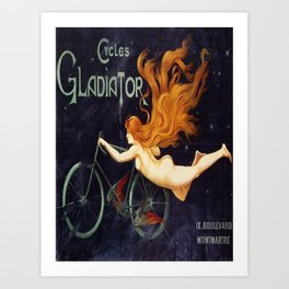 Vintage poster - Cycles Gladiator Art Print