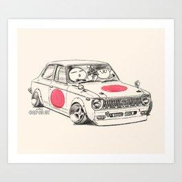 Crazy Car Art 0168 Art Print