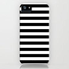 Modern Black White Stripes Monochrome Pattern Slim Case iPhone SE