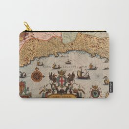 Map Of Genoa 1608 Carry-All Pouch