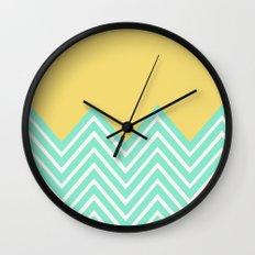 Bright Chevron Wall Clock