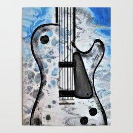 Guitar Art. Abstract Guitar. Rock and Roll. Gibson Guitar. Poster