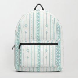 Blush green bohemian arrows zigzag geometrical Backpack