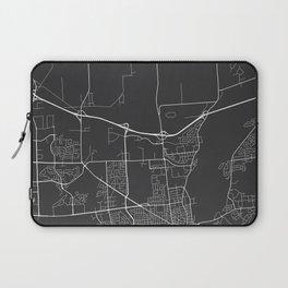 Kingston Map, Canada - Gray Laptop Sleeve