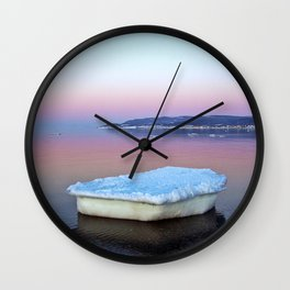 Ice Raft on the Sea Wall Clock