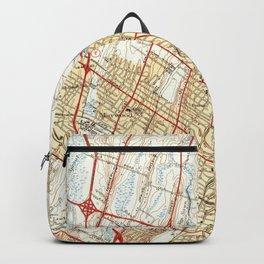 Vintage Map of Hackensack NJ (1940) Backpack