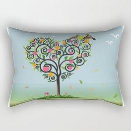 Bird in love Rectangular Pillow