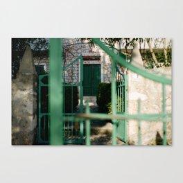 Croatian village on Hvar Canvas Print