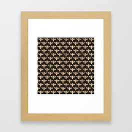 Honey Bees (Black) Framed Art Print