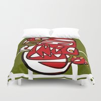 liverpool Duvet Covers featuring Suarez - Liverpool  by Ray Kane